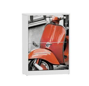 Y 15035 RED VESPA 300x291 - Zapatero 2 puertas MOTO
