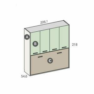 691Q 300x300 - Dormitorio juvenil FANTASY 5