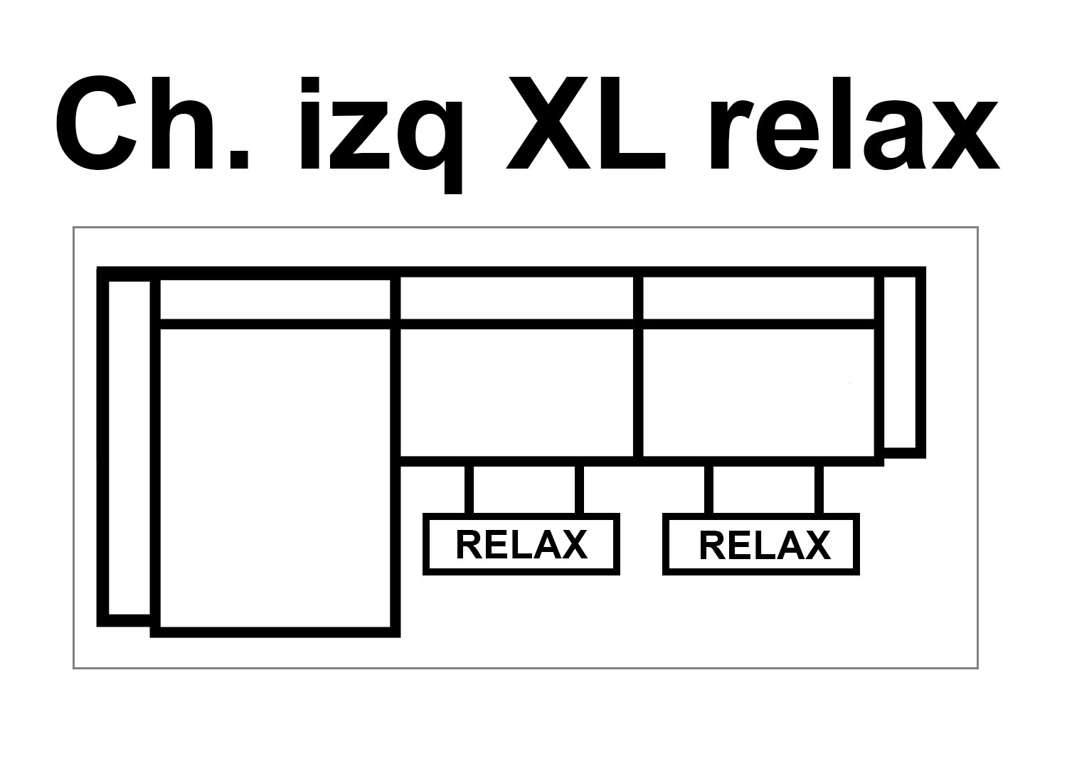 Chaise Izq XL RELAX