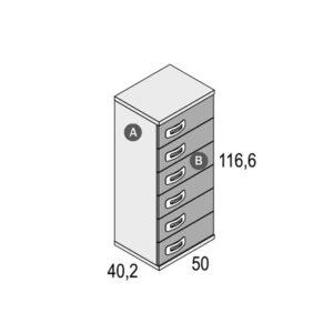 150 300x300 - Sinfonier de 6 cajones GAMES con zócalo