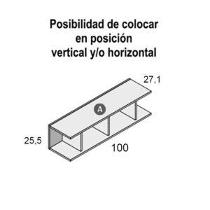 157 300x300 - Estantería doble de colgar 100 cm GAMES