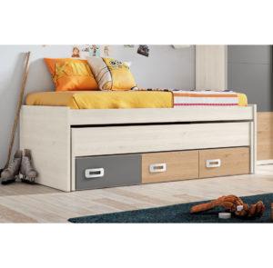 165 GAMES 300x295 - Compacto RECTO cama desplazable y 3 contenedores GAMES