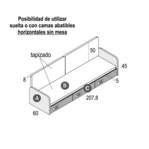 406 300x300 - Cajonera para cama abatible GAMES con cojines