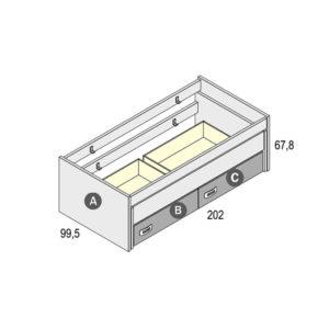 505 300x300 - Compacto RECTO cama desplazable y 2 cajones GAMES