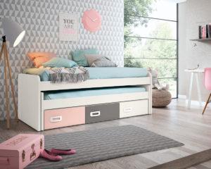 DJ 13558 300x240 - Compacto CURVO cama desplazable y 3 contenedores GAMES
