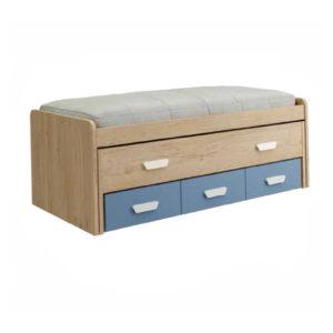 CNL064 1 300x300 - Compacto con cama desplazable y 3 contenedores PARCHIS