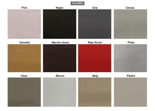 Colores POLIPIEL 600x430 - Canapé tapizado con cajón TOKIO
