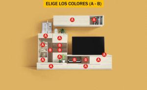 Compo 05 300x184 - Mueble de salón CONTINENTAL 8 (luz led incluida)