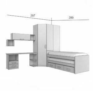 PARCHIS 2 300x292 - Dormitorio juvenil PARCHIS 2