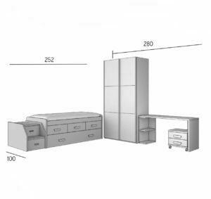 PARCHIS 3 300x283 - Dormitorio juvenil PARCHIS 3
