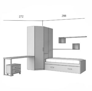 PARCHIS 4 300x296 - Dormitorio juvenil PARCHIS 4