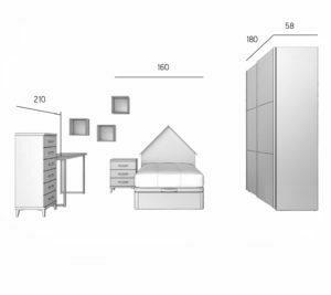 PARCHIS 5 300x267 - Dormitorio juvenil PARCHIS 5
