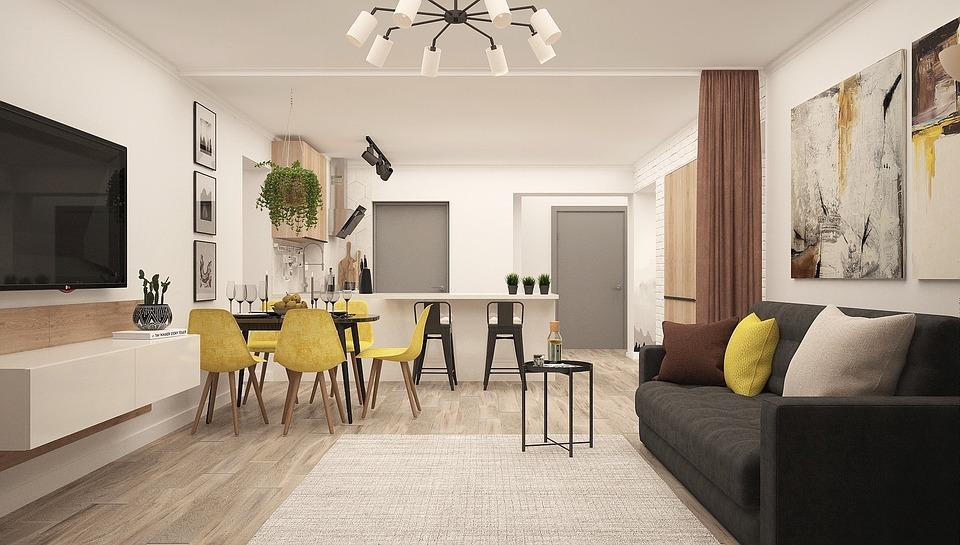 SALON MODERNO - ¿Cómo dividir ambientes en tu casa?