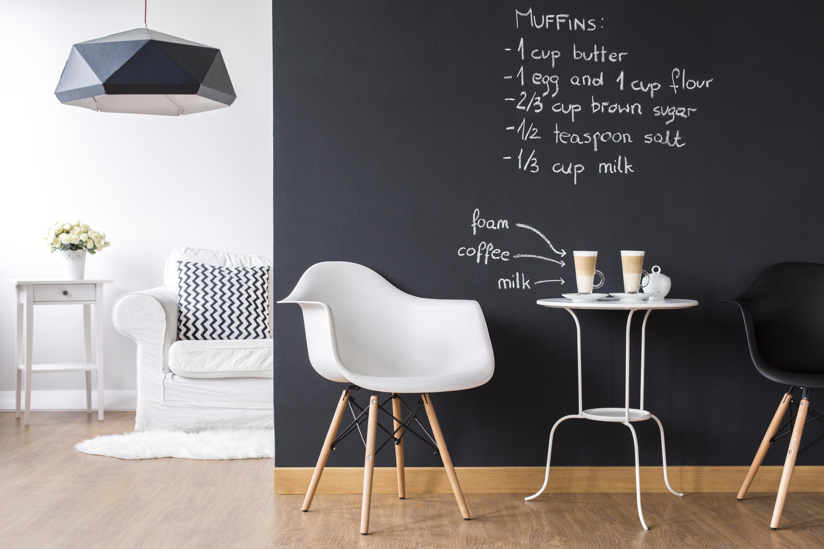 bigstock Studio Flat With Blackboard Wa 133703759 - Pared de pizarra, dónde aprovecharla al máximo