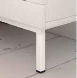 Plataforma metálica blanca